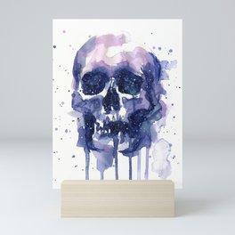 Galaxy Skull Mini Art Print