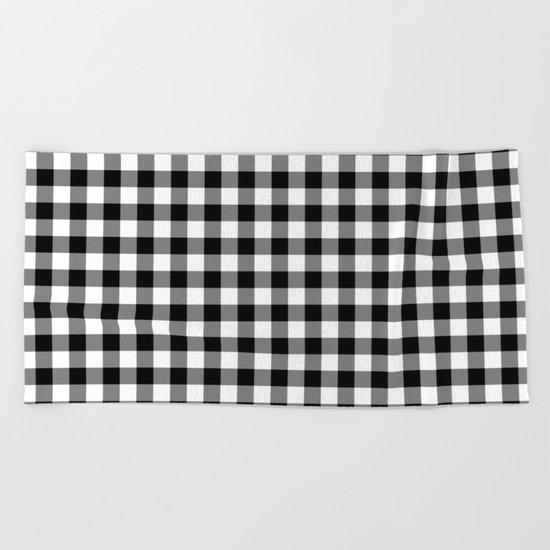 Gingham (Black/White) Beach Towel