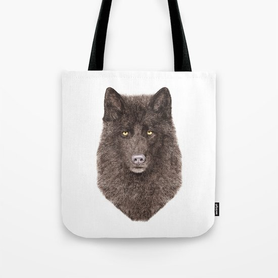Black Wolf Tote Bag