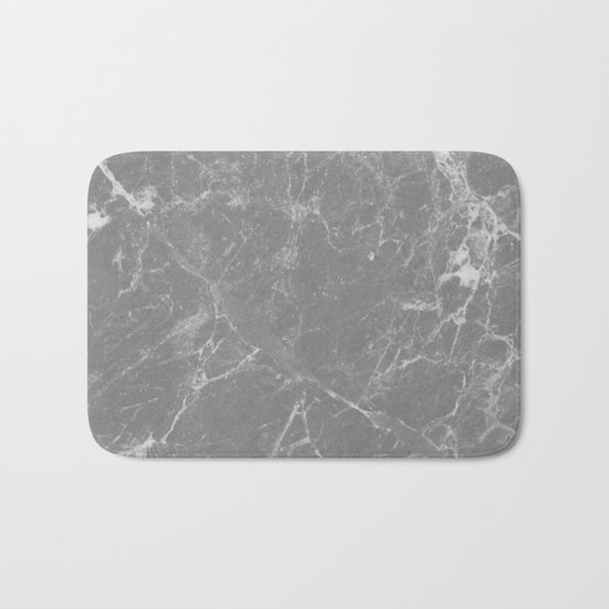 Grey Marble Bath Mat