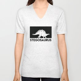 Stegosaurus Dinosaur Unisex V-Neck