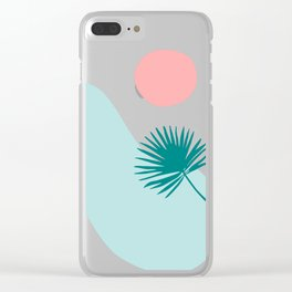 Tropical Beach, Minimalist Abstract Illustration Clear iPhone Case