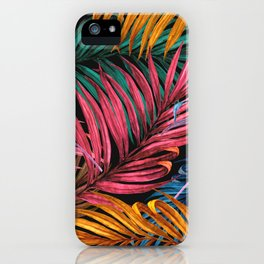 Colorful Palm Leaves iPhone Case