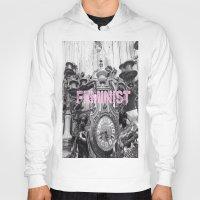 feminist Hoodies featuring FEMINIST  by L. Jamie
