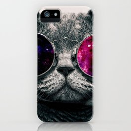 swag cat art colour sticker case iphone cover hot style 2018 love cute iPhone Case