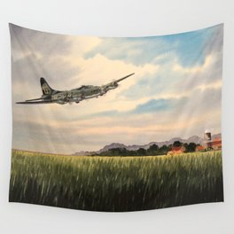 B-17 Flying Fortress Aircraft Wall Tapestry