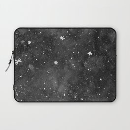 Watercolor galaxy - black and white Laptop Sleeve
