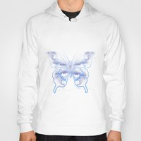 battlestar galactica Hoodies featuring Galactica Blue Butterfly by Tiffany 10