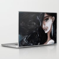 "edgar allan poe Laptop & iPad Skins featuring Edgar Allan Poe: Ligeia by Barbora ""Mad Alice"" Urbankova"