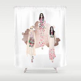 Fashionary - Rose Gold Shower Curtain