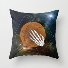 Basketball to the bone Throw Pillow
