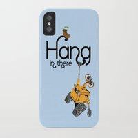 pixar iPhone & iPod Cases featuring Pixar/Disney Wall-e Hang in There by Teacuppiranha
