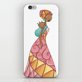 African beauty pink. iPhone Skin