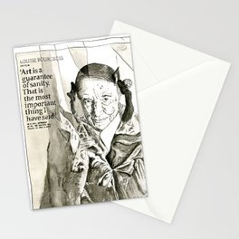 Art is a guarantee of Sanity Stationery Cards