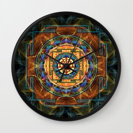 The Sri Yantra - Sacred Geometry Wall Clock