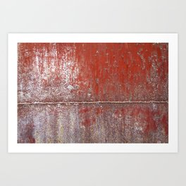 Rusted Red Drum Art Print