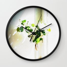 Vase of Flowers with shadows watercolor Wall Clock