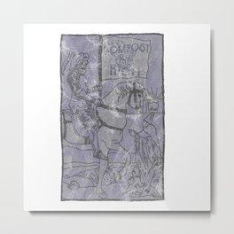 Compost The Rich Death Card Metal Print