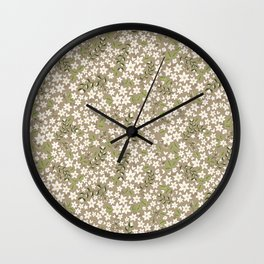 Jonquil Field Wall Clock