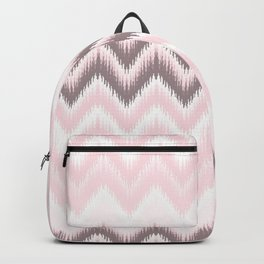 Girly blush pink pastel modern elegant ikat pattern Backpack