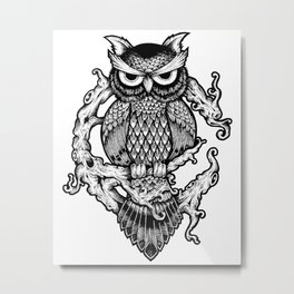 Owl Forest Metal Print
