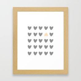 heart of contradiction Framed Art Print