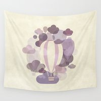 balloons Wall Tapestries featuring Balloons by mirimo