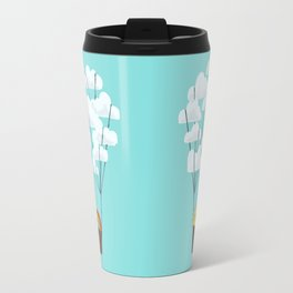 Hot cloud balloon - sun and rainbow Travel Mug