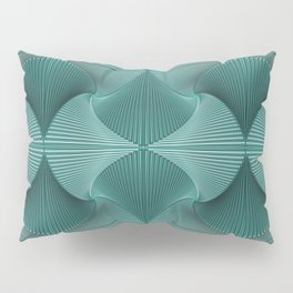Turquoise patterns Pillow Sham