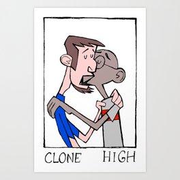 clone high kiss Art Print