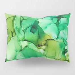 Tropical Green Fluid Art Pillow Sham