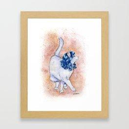 Kitty Purry Framed Art Print
