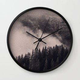 FOGGY HILL Wall Clock