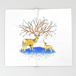 You're more beautiful than you know - Deer Throw Blanket