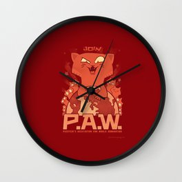 Pussycats for World Domination Wall Clock