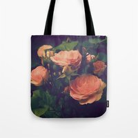 antique Tote Bags featuring Antique Rose by A Wandering Soul