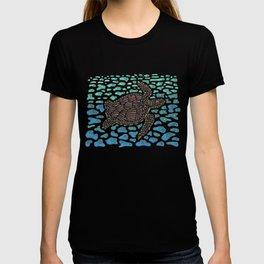 Vanishing Sea Turtle by Black Dwarf Designs T-shirt