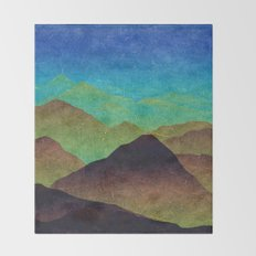 Through hilly lands and hollow lands Throw Blanket