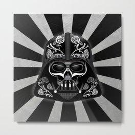 DARTH VADER SUGAR SKULL Metal Print