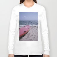 cape cod Long Sleeve T-shirts featuring Cape Cod Beach by IanPlath