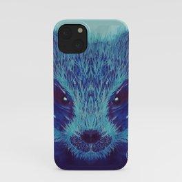 Blue Honey Badger iPhone Case