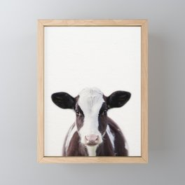 Baby Cow, Baby Animals Art Print By Synplus Framed Mini Art Print