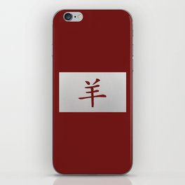 Chinese zodiac sign Goat red iPhone Skin