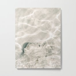 Clear water | beach fine art photography | sea wave and sand Metal Print