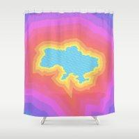 ukraine Shower Curtains featuring Ukraine by Tasha-Nova