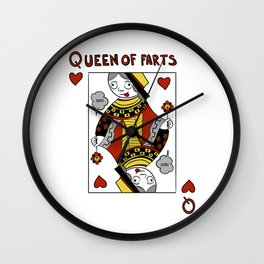 Queen of Farts Wall Clock