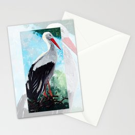 Animal - The beautiful stork - by LiliFlore Stationery Cards