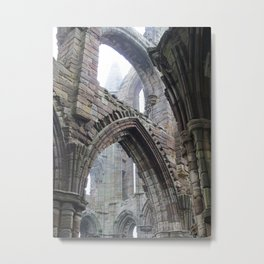 Whitby Abbey in Fog #2 Metal Print