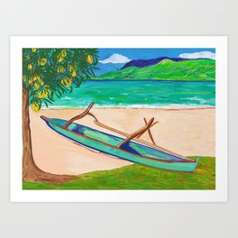 Tahiti Outrigger Art Print
