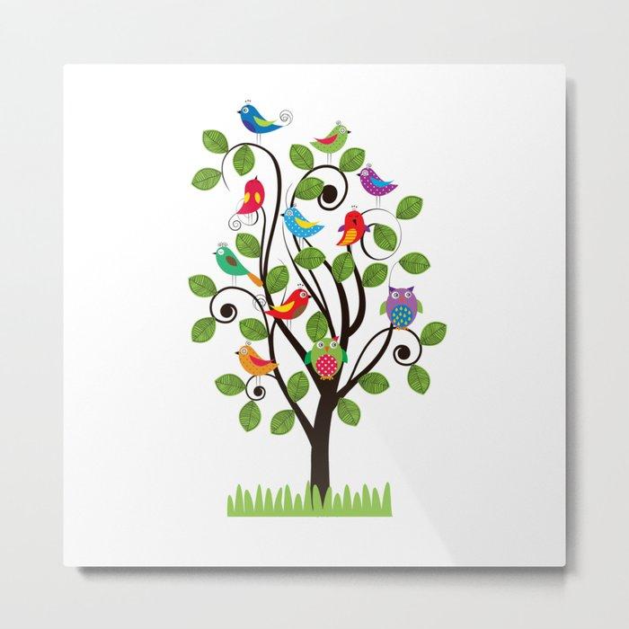 Colorful birds Metal Print
